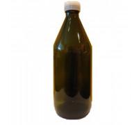 Бутылка для проб с крышкой темное стекло 1л
