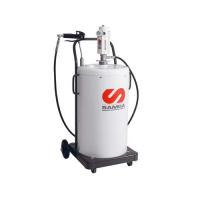 Пневматический солидолонагнетатель с насосом PM 3+3 с подставкой для бочек 50 кг SAMOA
