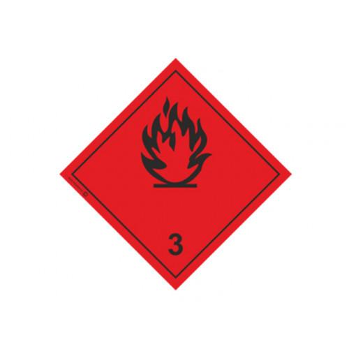 """Знак """"Класс 3. Легковоспламеняющиеся жидкости"""""""