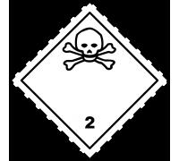 """Знак """"Класс 2.3. Токсичные газы"""""""