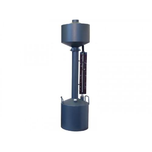 Мерник 2-ого разряда из углеродистой стали М2Р-10-СШ пеногаситель, спецшкала, нижний слив